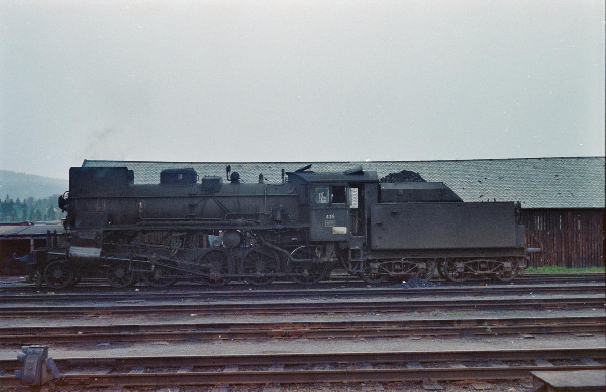 Damplokomotiv type 26c nr. 435 på Kongsvinger stasjon.