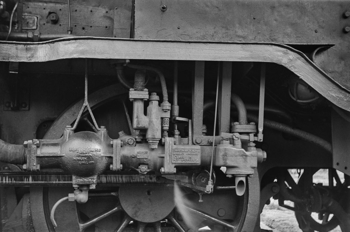 Detalj av damplokomotiv type 18c nr. 233.