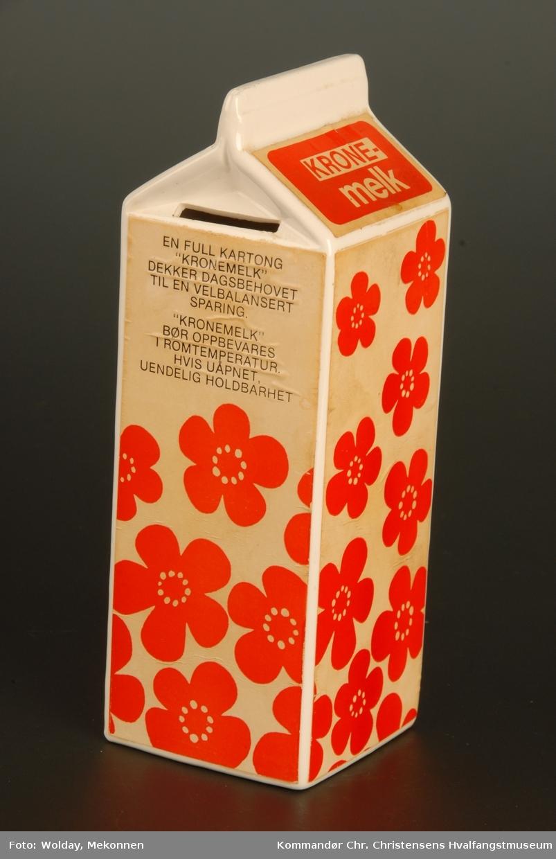 Form: Formet som en melkekartong