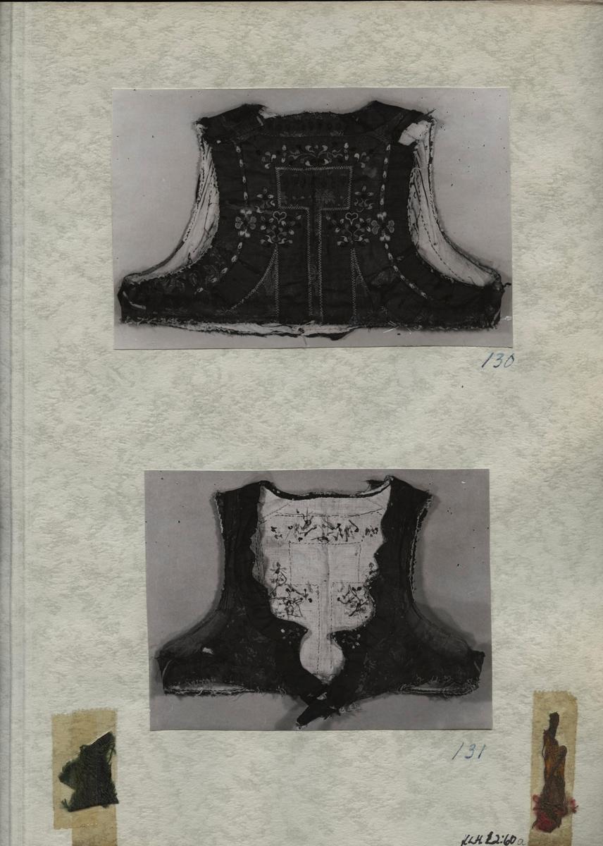 Kartongark med två bilder av liv