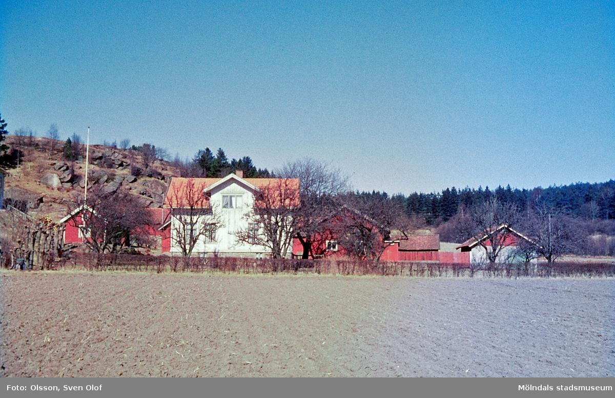 Bebyggelse på Gökegården 1 i Eklanda, Mölndal, år 1964.