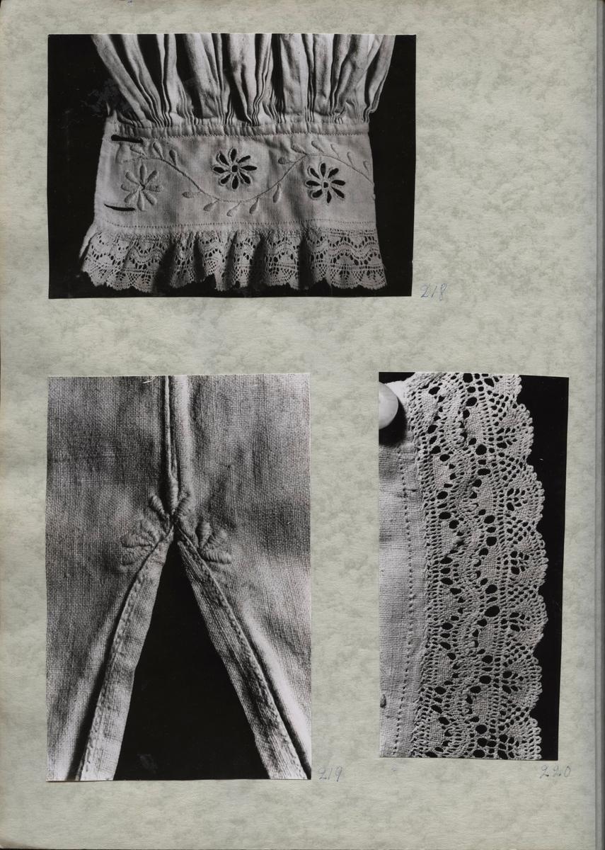 Kartongark med två bilder av särk (opplöd)