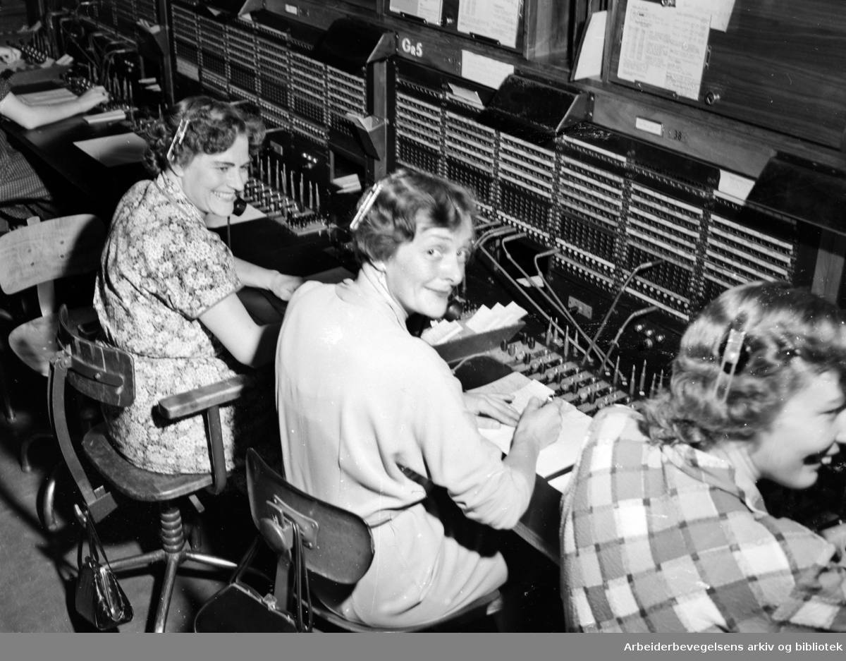 Telegrafen. Bergen radiolink. September 1954