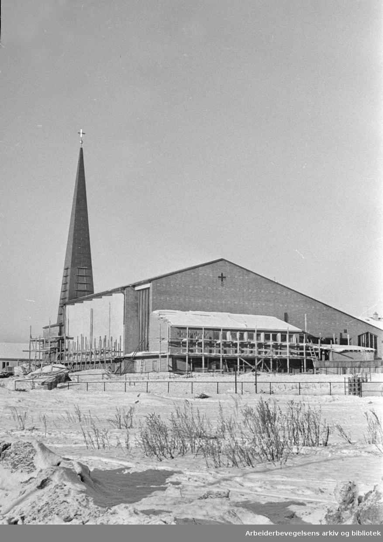 Tonsen kirke. Februar 1961