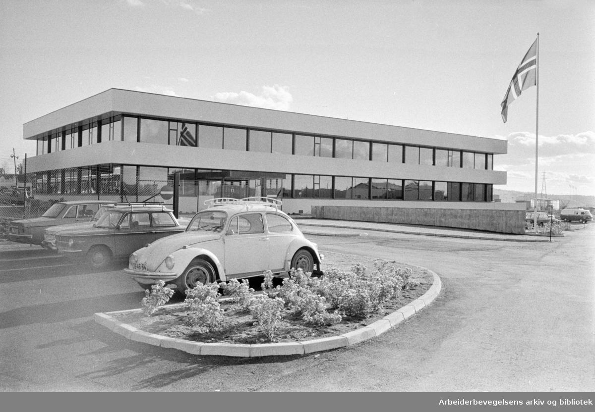 Ulven. A/S E. Sunde & Co Lid. Nytt administrasjonsbygg. Oktober 1971