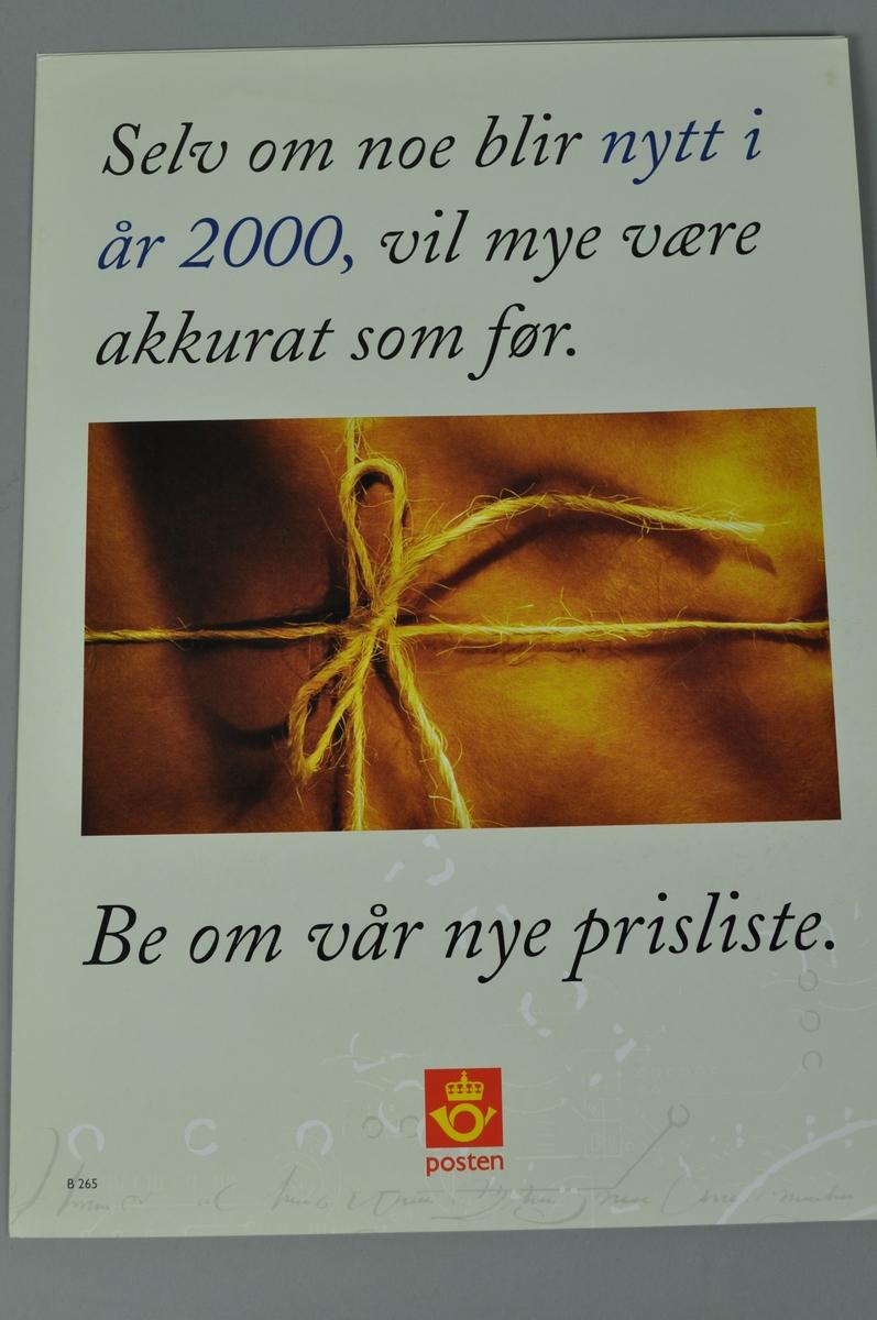 Informasjonsplakat på bokmål og nynorsk.