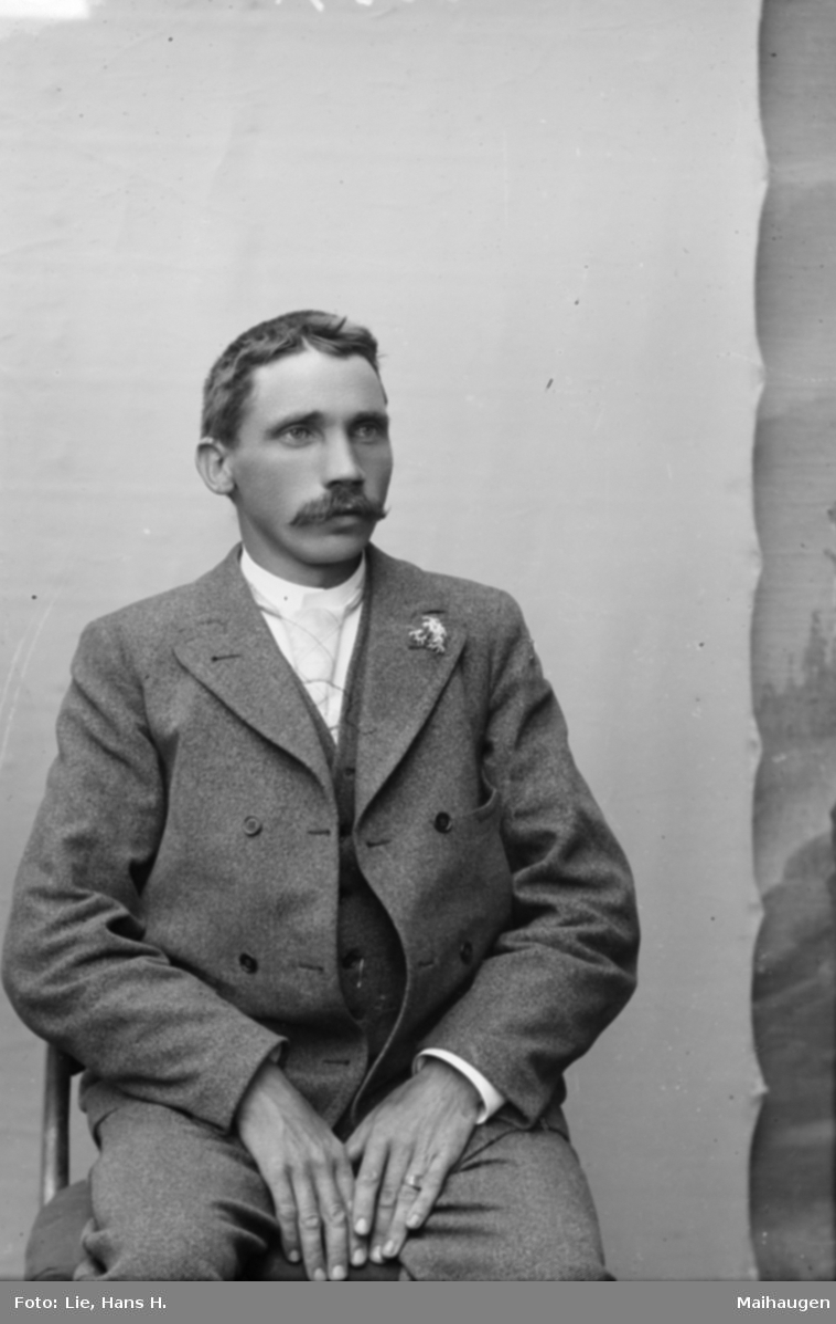 Portrett av Bjølgerud, antageligvis en jernbanemann