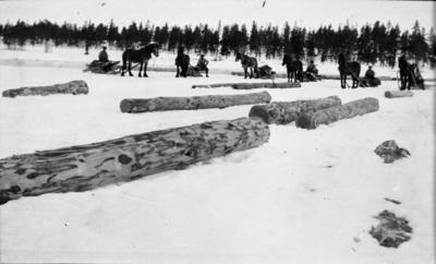 Tømmerkjøring. Foto/Photo