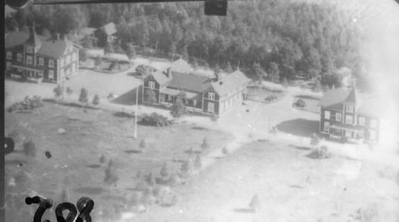Flygfoto över Östra lägret i Skillingaryd.