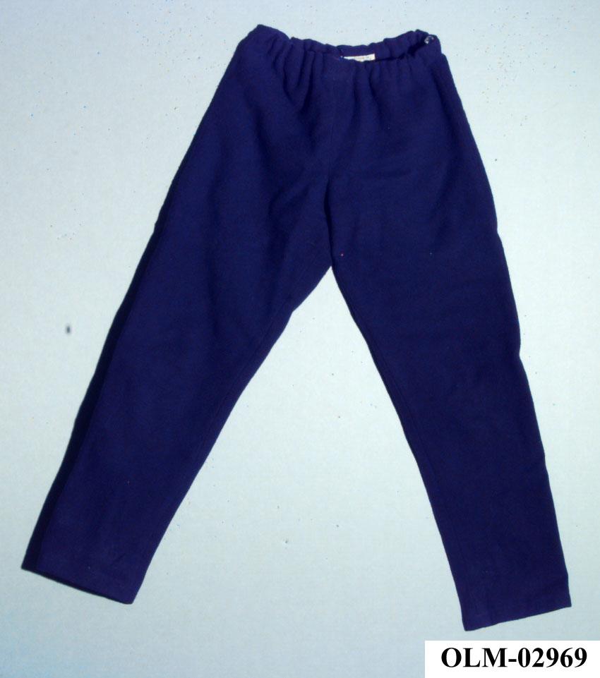 Lang mørkeblå bukse