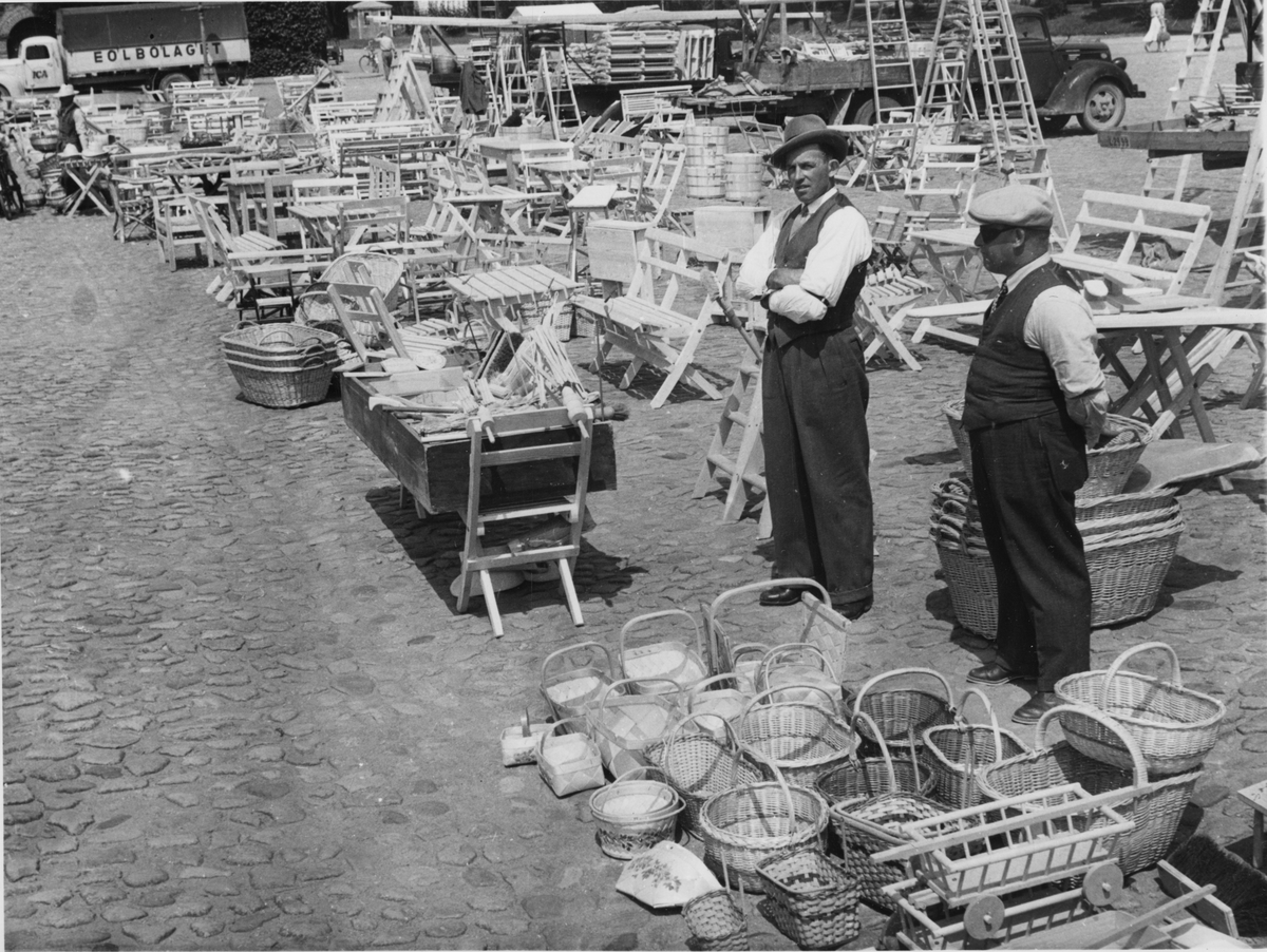 Torgdag i Kristianstad 1950.