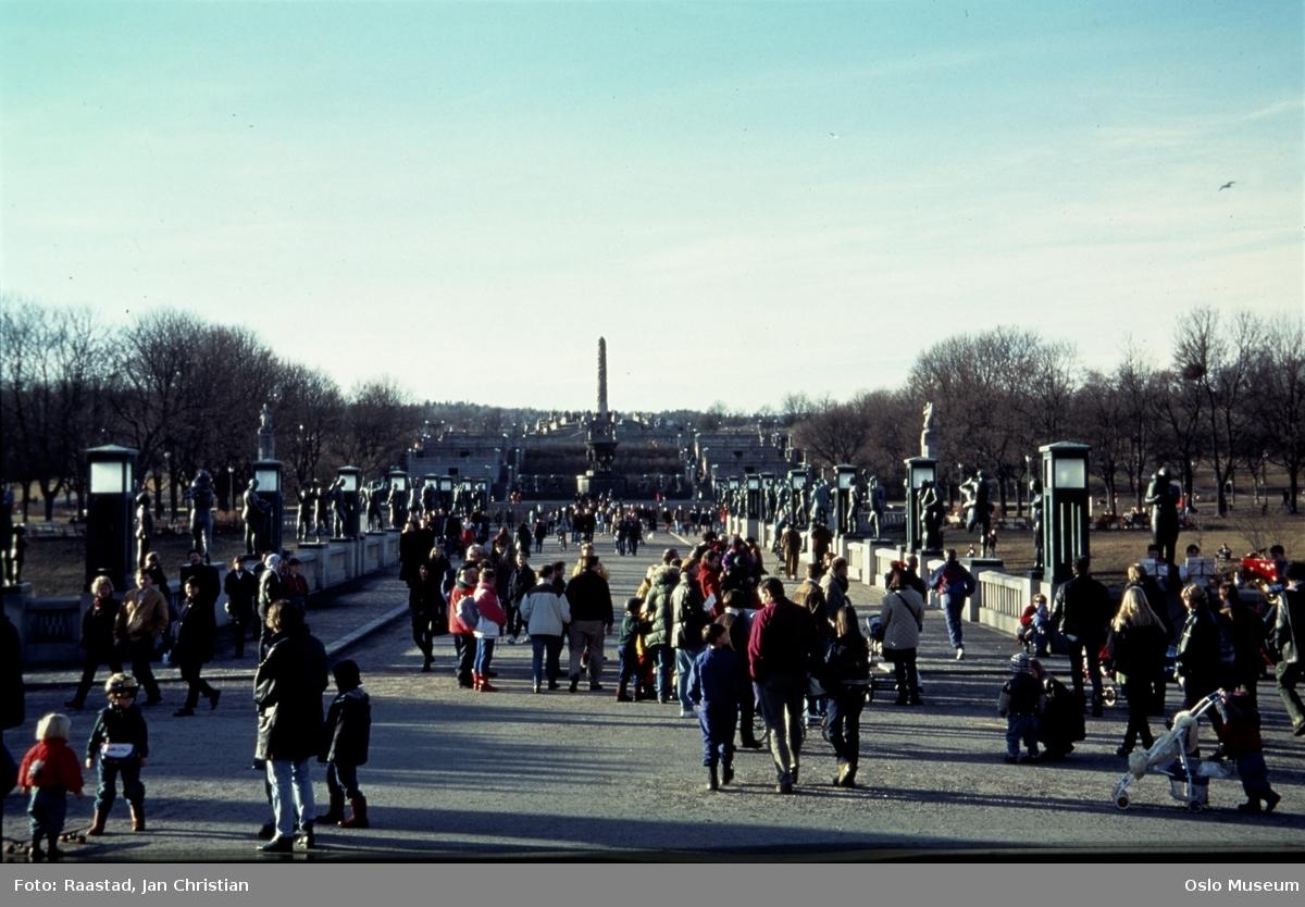 Vigelandsparken, skulpturpark, mennesker