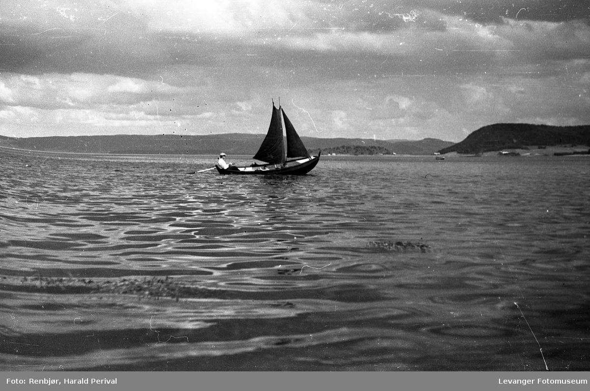 Seilbåt  på fjorden
