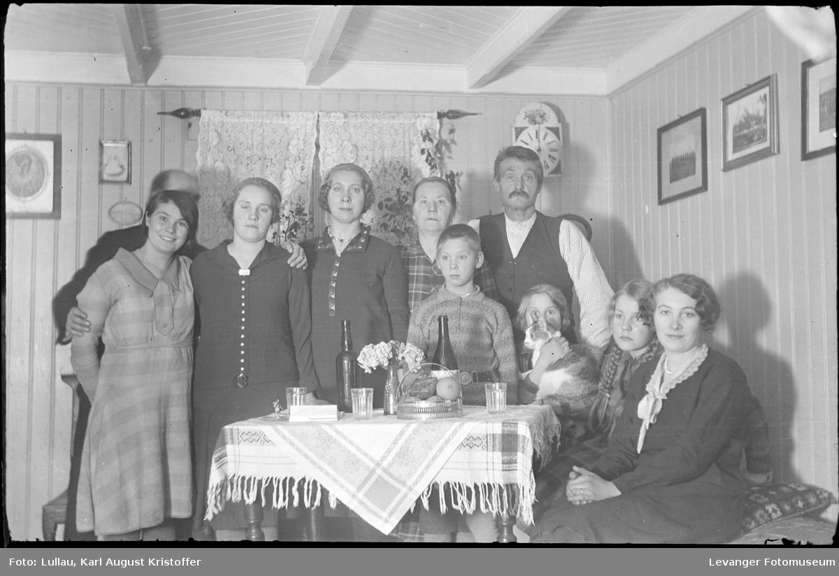 Familen Hansen på Sjøbakken familien til Jenny Lullau.
