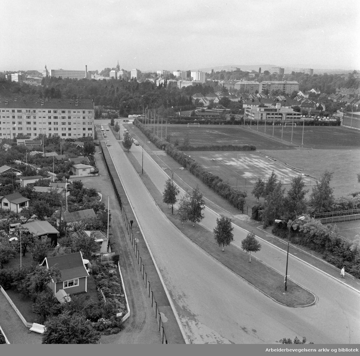 Voldsløkka. Et nytt Ekeberg-senter. September 1970