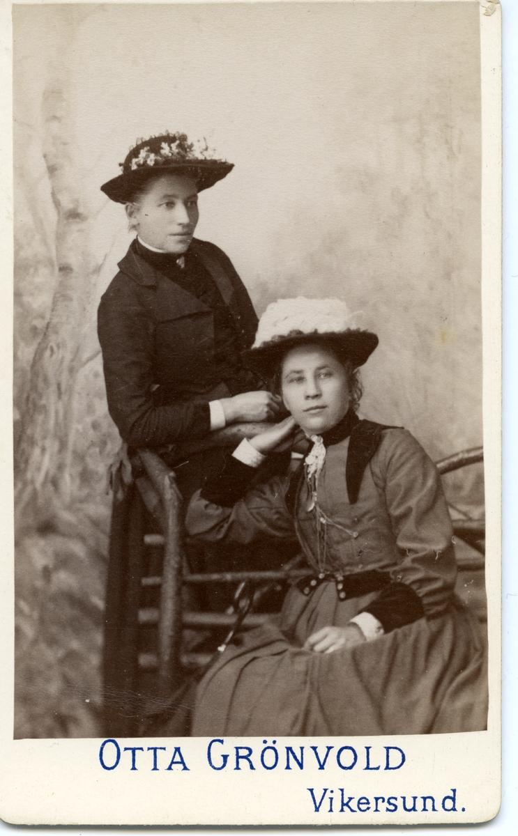 Portrett av 2 kvinner.