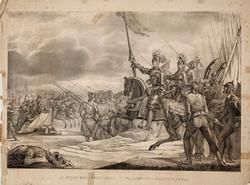 Gustaf Ericsson Wasa vid slaget vid Brännkyrka [Litografi]