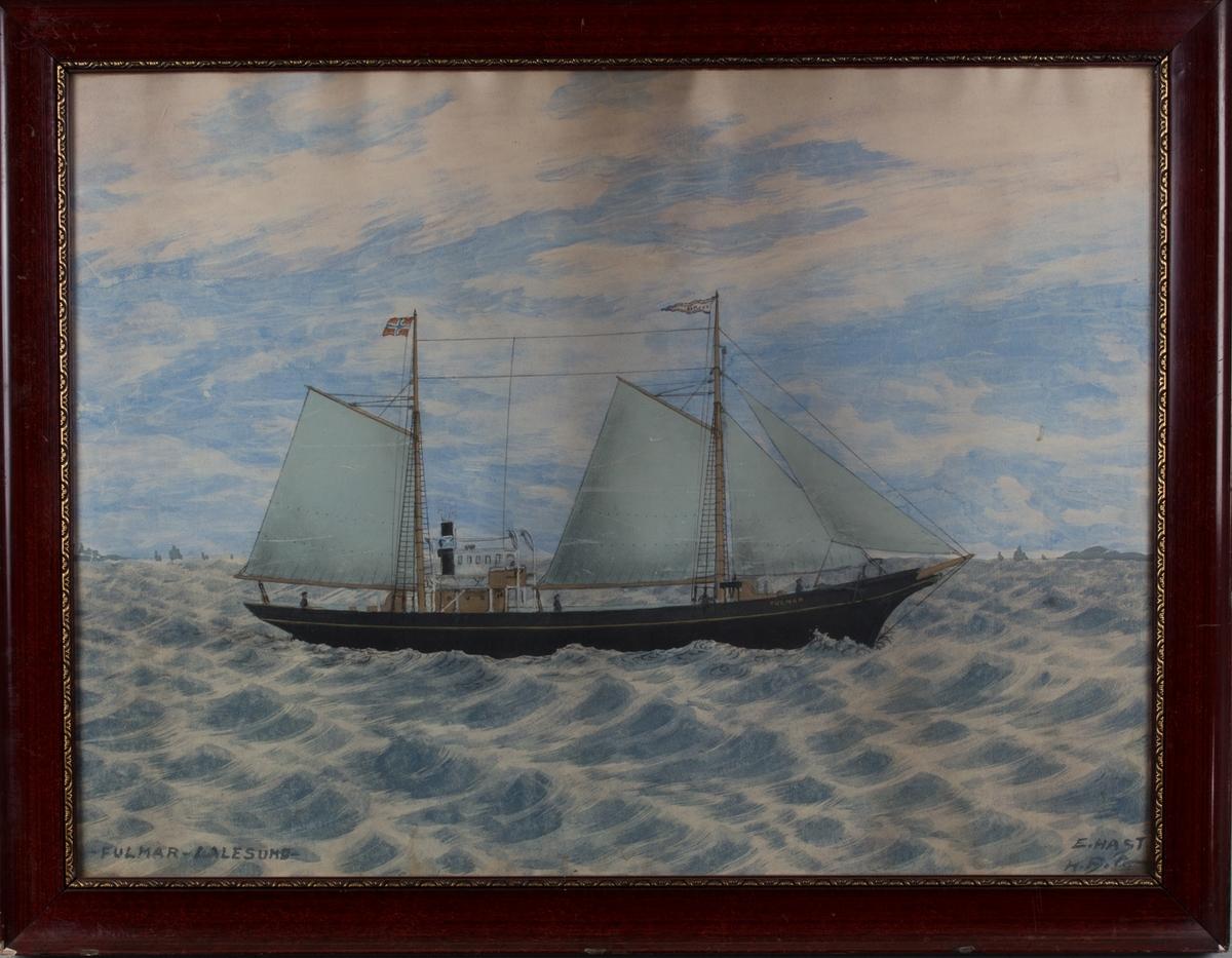 Skipsportrett av DS FULMAR på åpent hav.