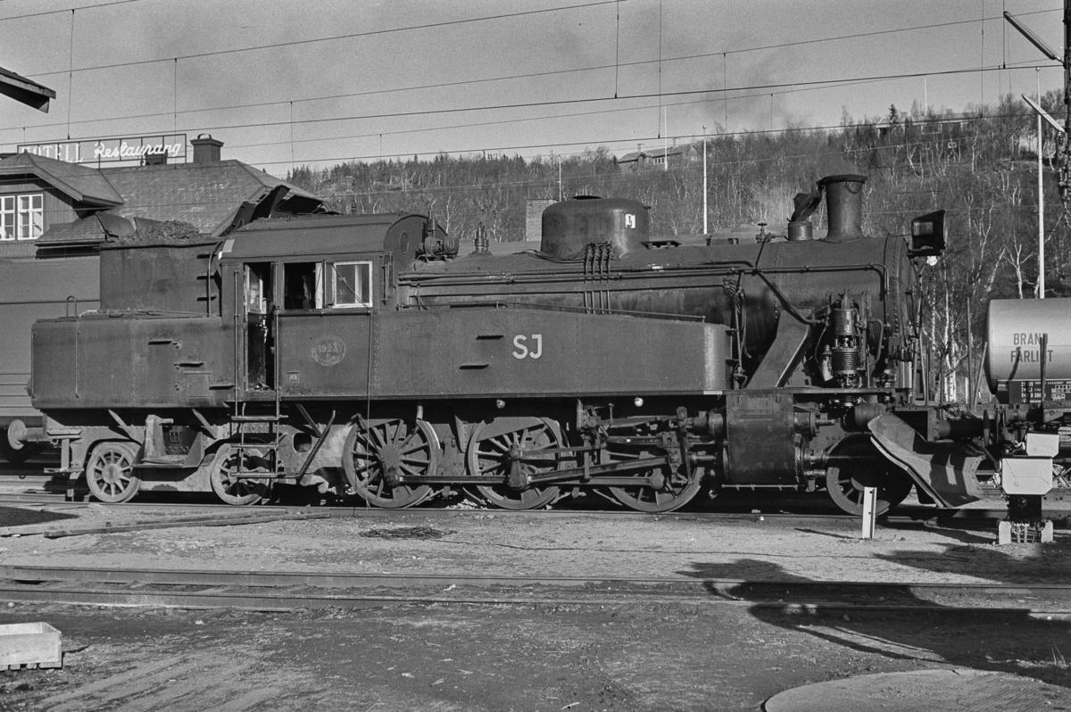 Svensk damplok type S nr. 1923 i Storlien i Sverige.