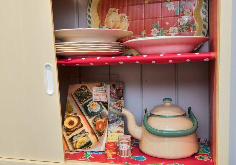 50-tallets kjøkkenskap