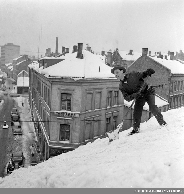 Norbygata. Januar 1958