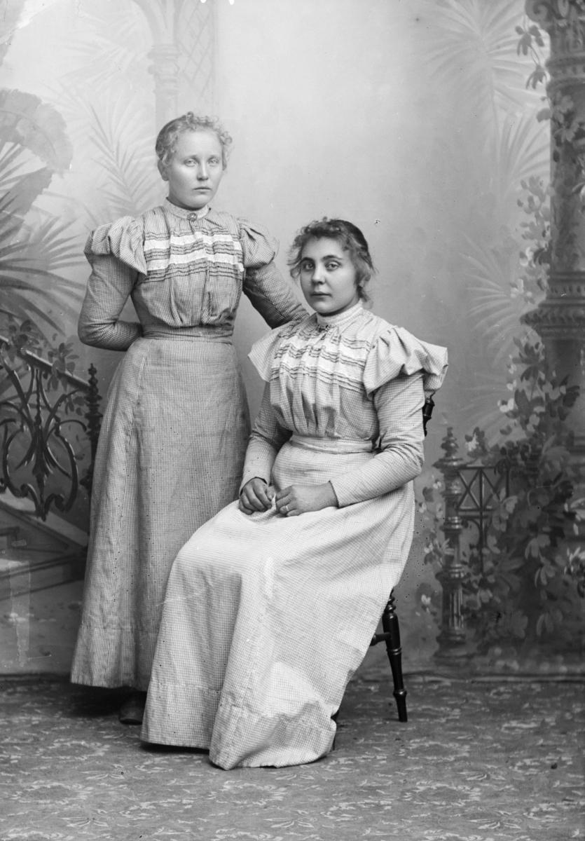 Portrett av søstrene Rønnaug og Anne Fredriksen
