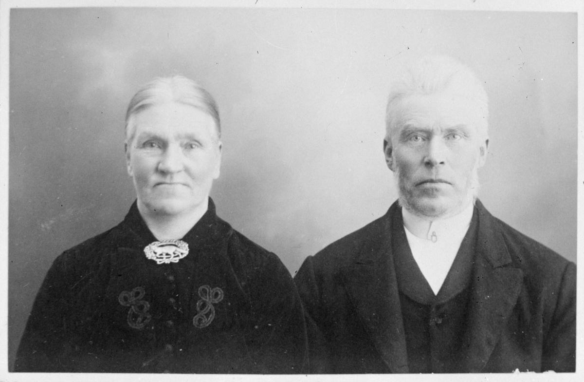 Portrett av mann og kvinne - ektepar?