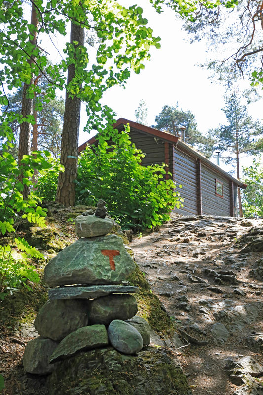 DNT-hytta Hovinkoia på Norsk Folkemuseum. Foto: Astrid Santa