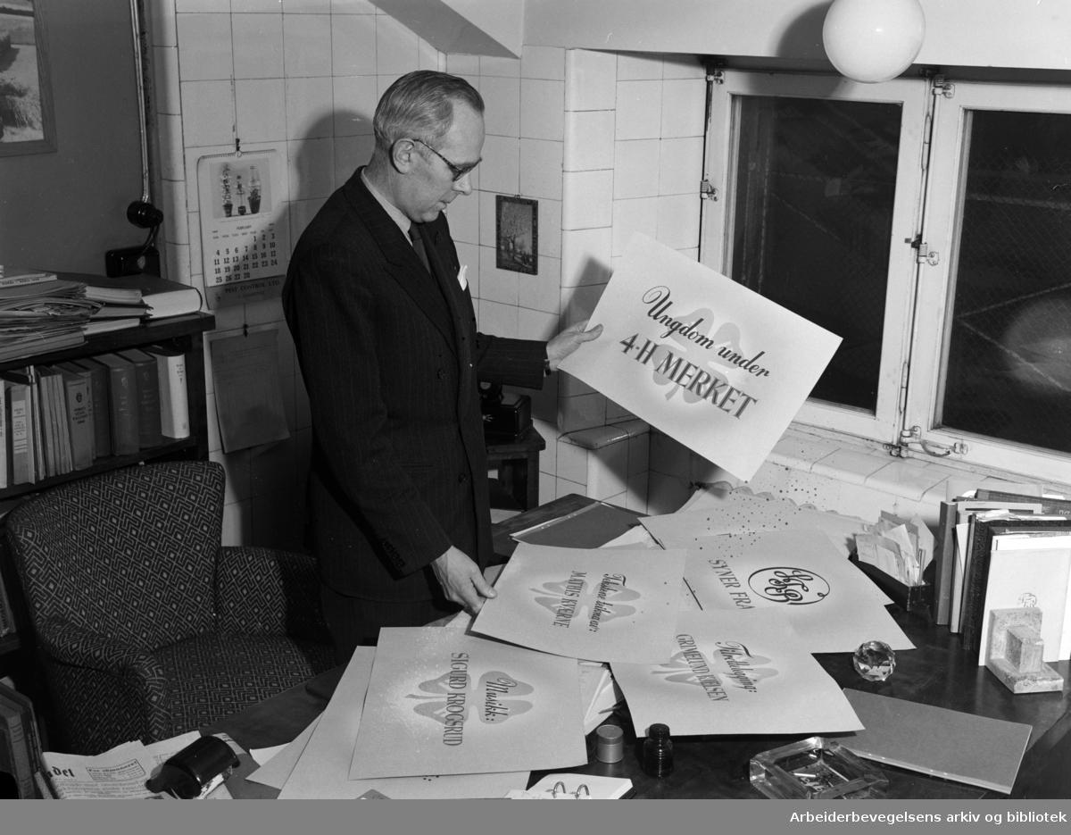 Landbruksdepartementets film og billedkontor. Februar 1951