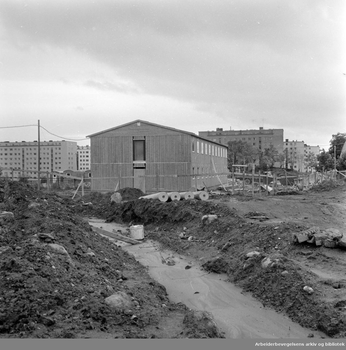 Kringkastingen: Fjernsynhuset. Filmavdelingen. Oktober 1963