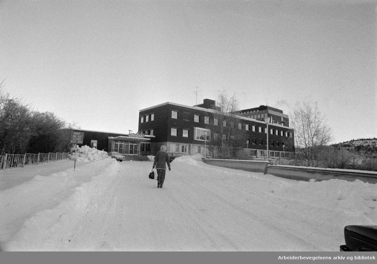 Kjelsås. Tandbergs Radiofabrikk. Januar 1978