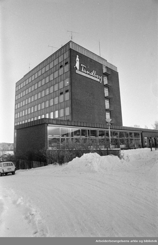 Kjelsås diverse. Tandbergs Radiofabrikk. Januar 1978