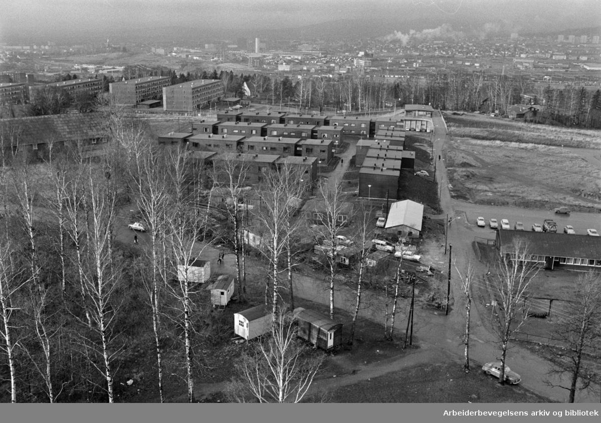 Haugerud trygdeleiligheter. Desember 1972
