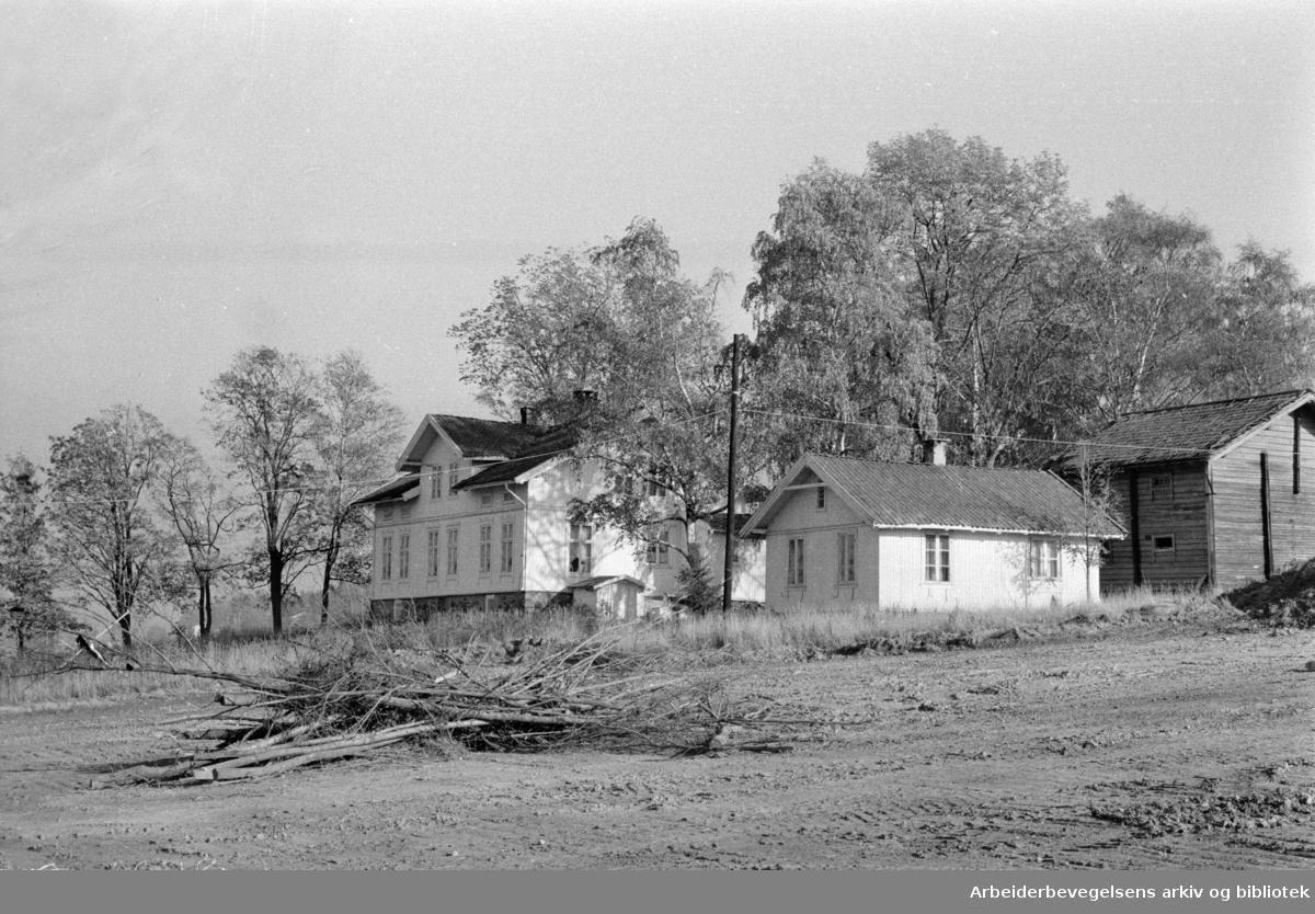 Furuset. Lindeberg gård blir 4-H-senter. Oktober 1975