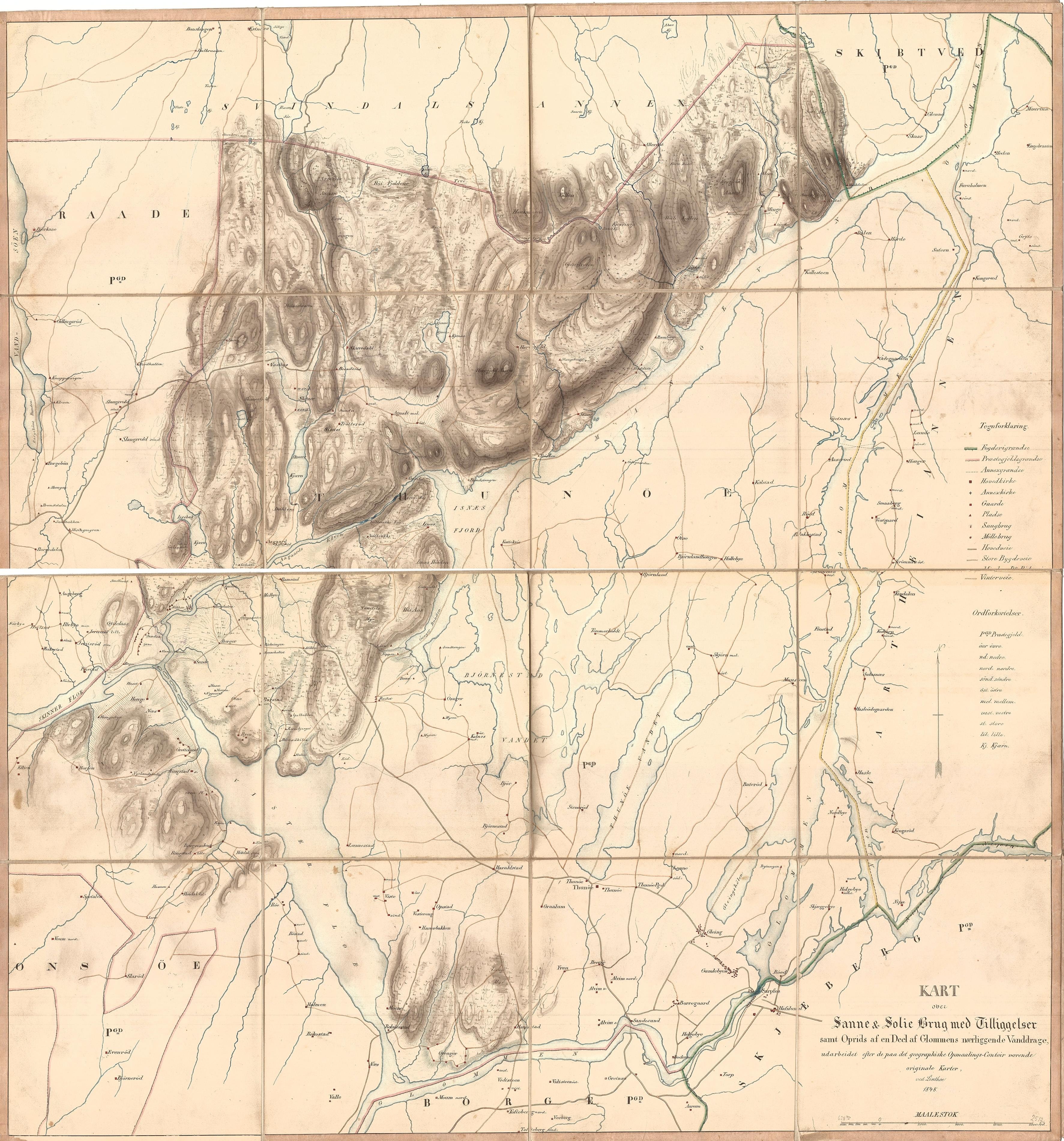 Kart Over Sanne Solie Brug Sanne Og Soli Brug I Ostfold Fylke
