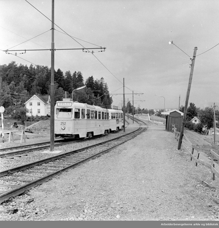 Hellerud stasjon. Juli 1964