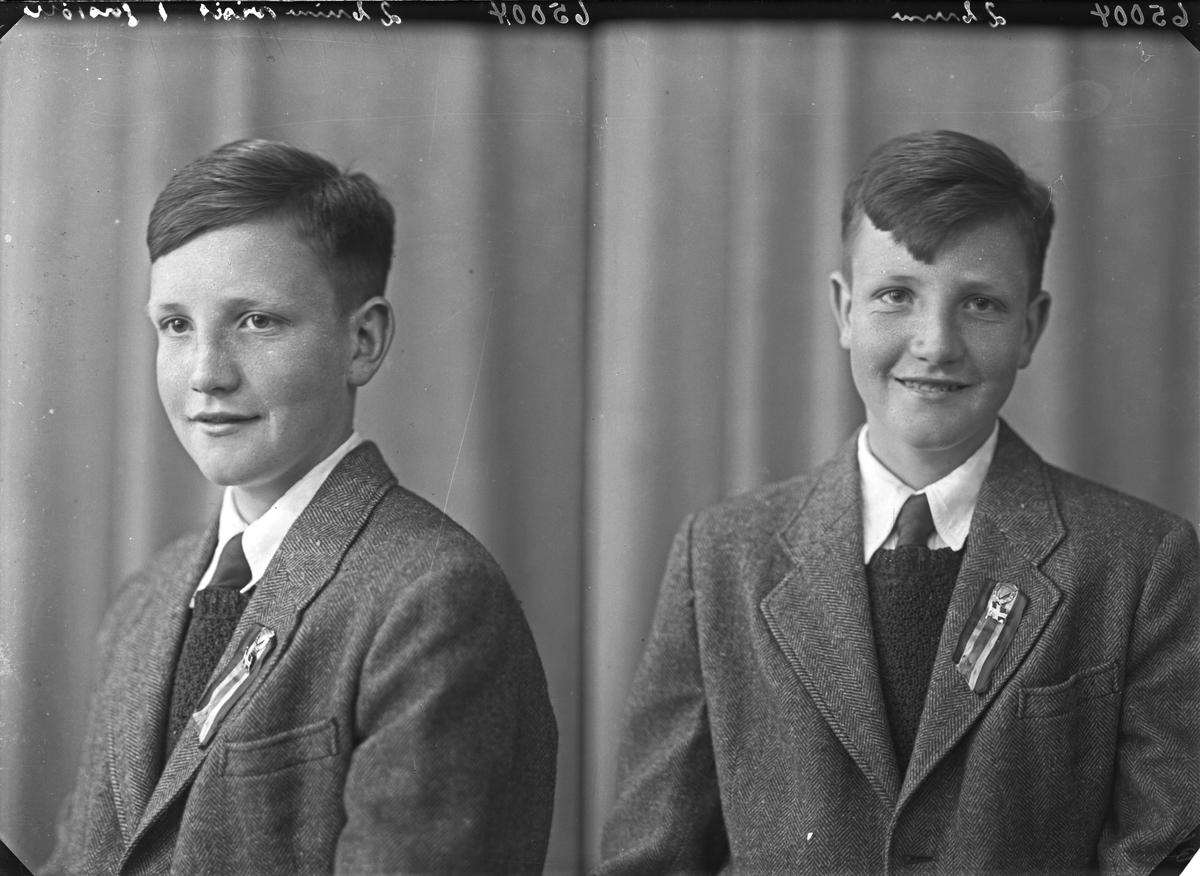 Portrett. Ung mann. Eldste gutt. Bestilt av Kjell Gunnarhaug. Erling Skjalgsonsgt. 19