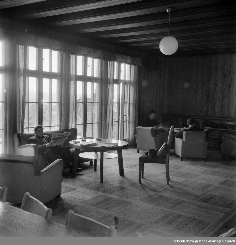 Attføringsinstituttet på Sinsen. Interiør. Oktober 1947