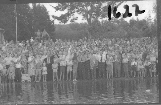 Regementets Dag 1955, A 6, Jönköping. Rocksjövallen. ŏskådare.