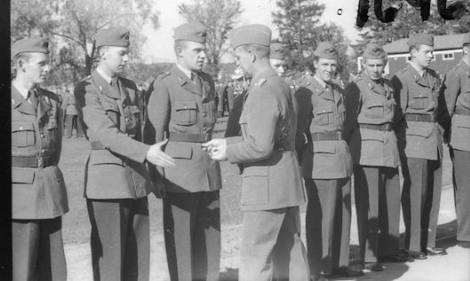 Regementets Dag 1955, A 6, Jönköping. Rocksjövallen. Överste Ivan Thorson.