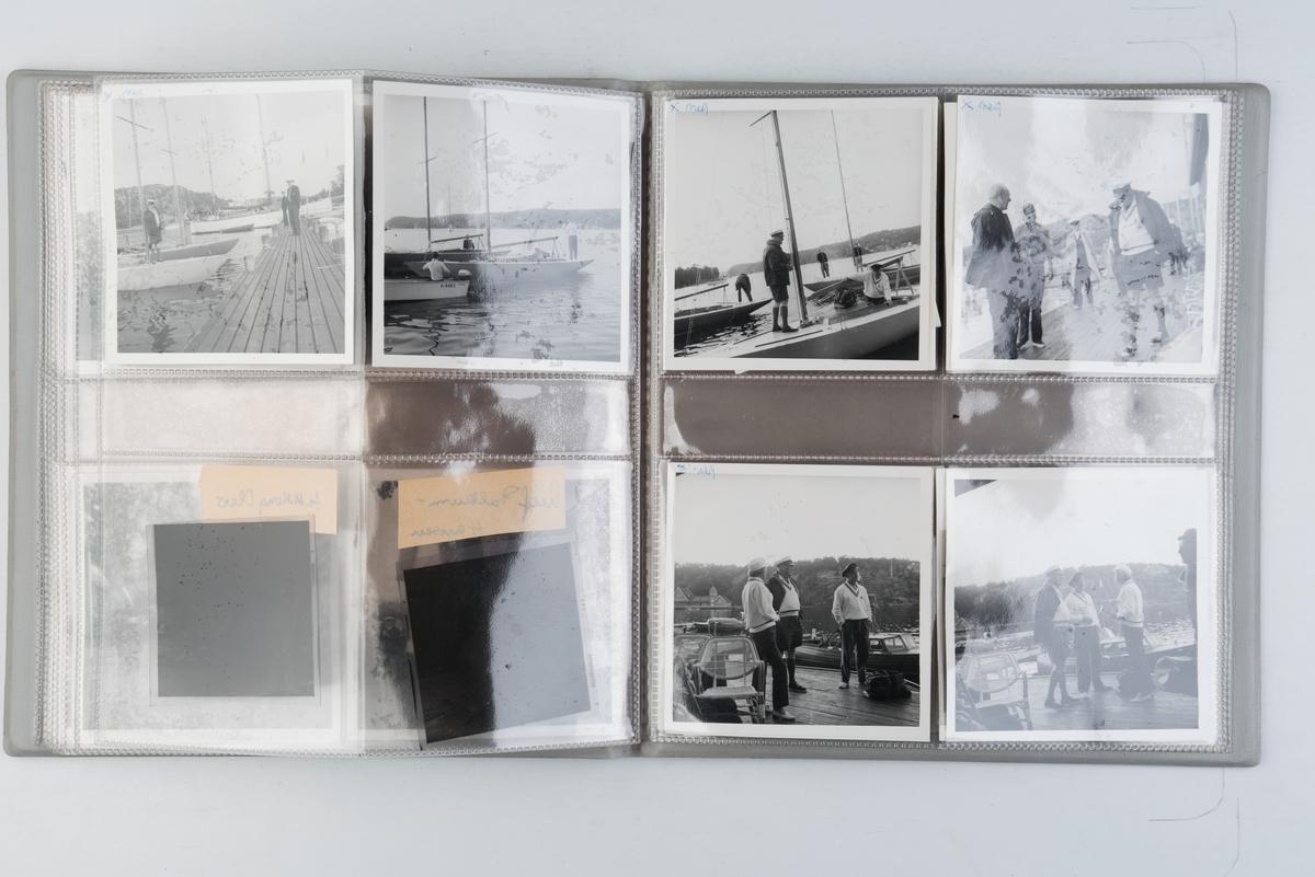 Album med fotografier av sportsseilere og miljøet omkring dem på 1970-tallet. Fotografert av Grethe Bruu.