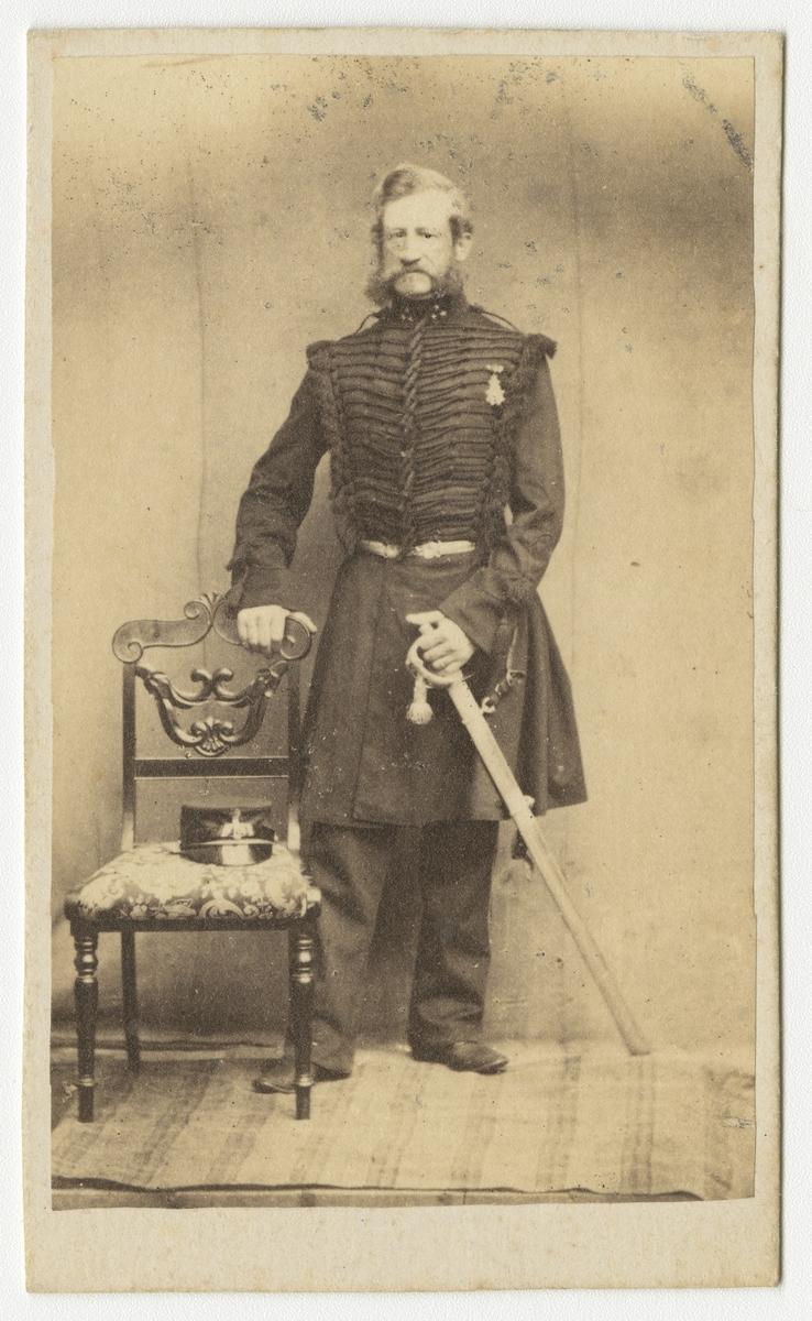 Porträtt av Nils Alexander Silfversparre, major vid Skånska dragonregementet K 6.
