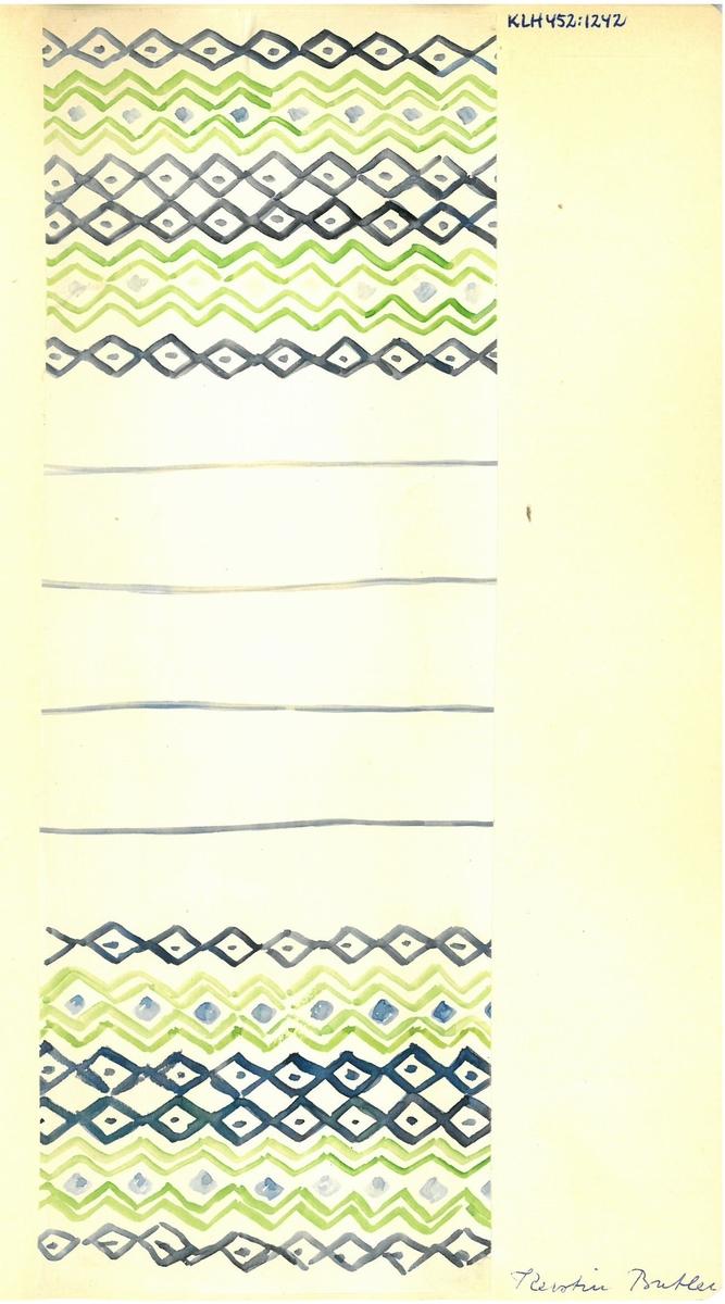 Skiss till möbeltyger. Formgivare: Kerstin Butler