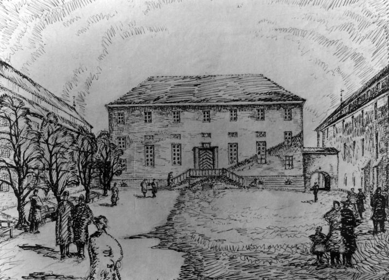 Skisse til museumsbygningene