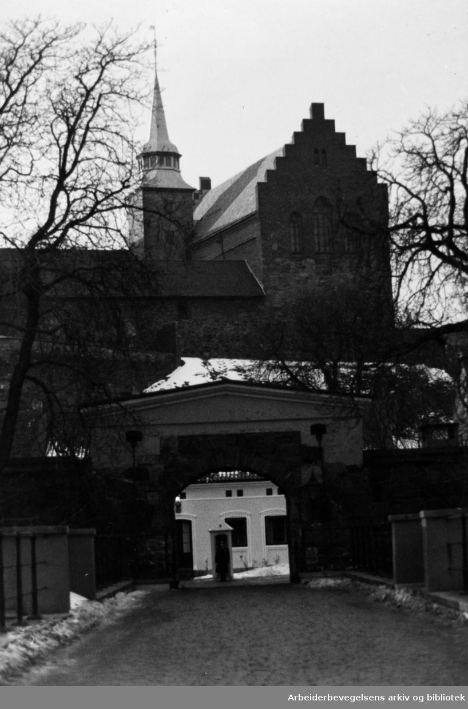 Akershus Festning. Januar 1991