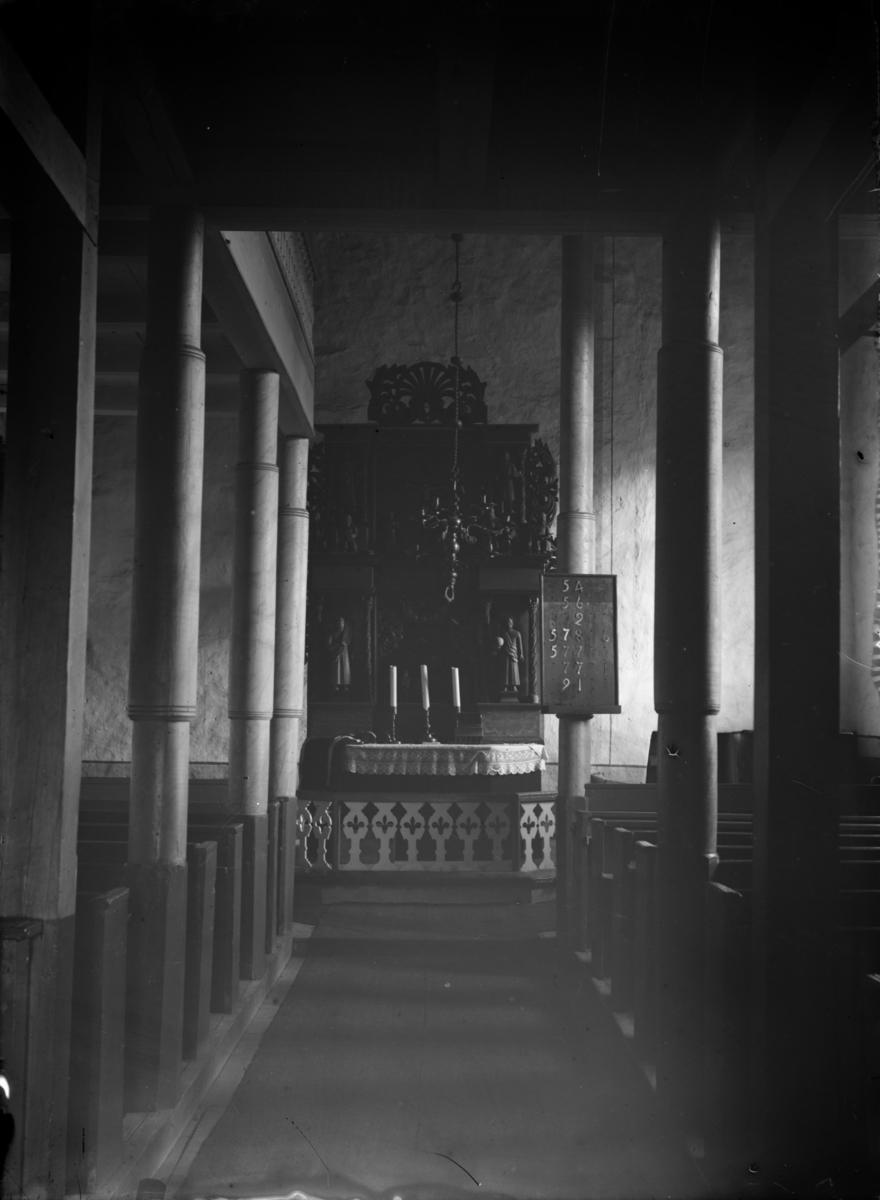 Follebu kirke, interiør