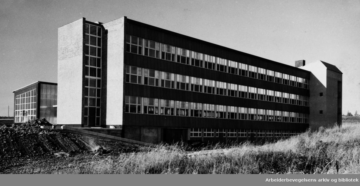 Alnabru. Fabritius & Sønners nye anlegg. Mars 1958