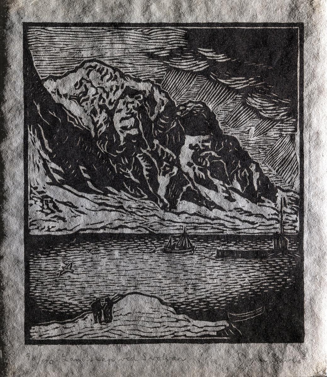 Landskap ved Svolvær [Grafikk]