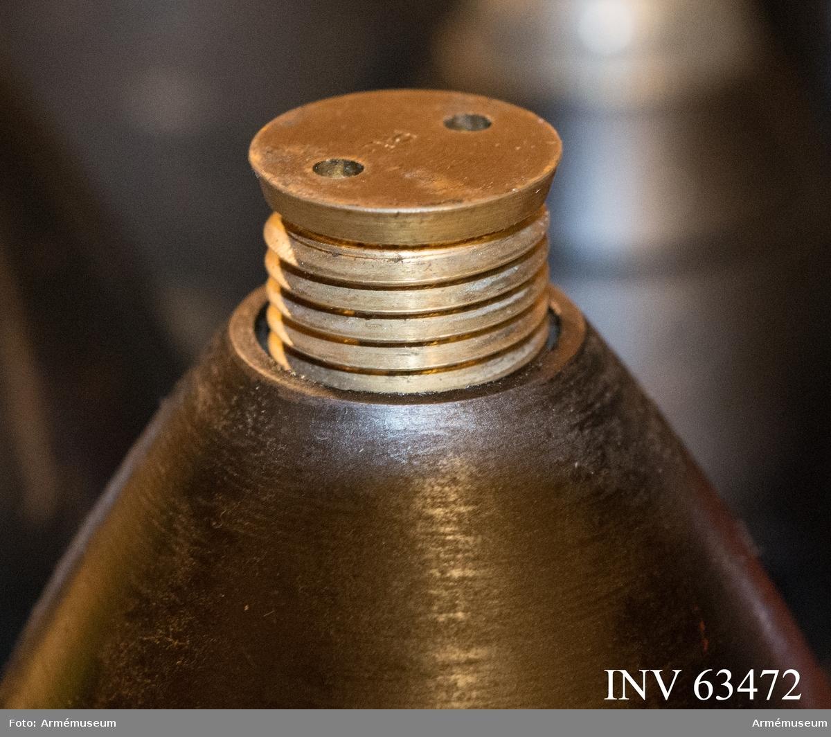 Grupp F II. Till 16 cm granat m/1885 för 16 cm kanon m/1881 samt 16 cm haubits m/1885. Enligt AfAD persedelanordning nr 202, den 19/12 1885.