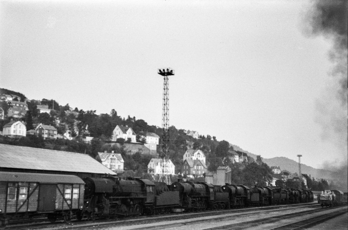 Hensatte damplokomotiver type 63a på Marienborg.